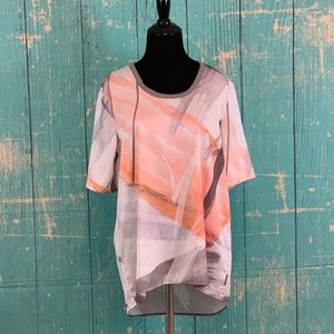 CALVIN KLEIN Abstract Print  TUNIC TOP